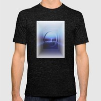 LANDSCAPE - Twilight zone Mens Fitted Tee Tri-Black SMALL