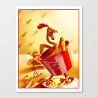Bucket of Chicken Canvas Print