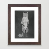 Fox Fur Framed Art Print