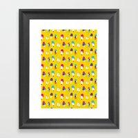 Ice Cream Pattern - Ligh… Framed Art Print
