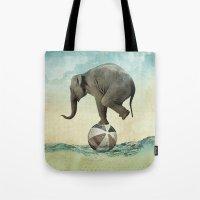 Elephant at Sea Tote Bag