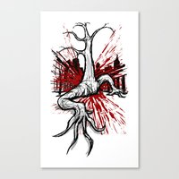 Attack of the Walking Tree Canvas Print