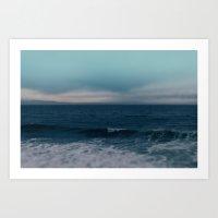 Blue California Ocean Art Print