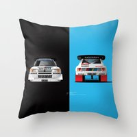 Group B Edition, N.º1, Peugeot 205 T16 E2 Throw Pillow