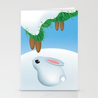 Winter bunny Stationery Cards