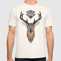oh deer! Mens Fitted Tee Natural SMALL