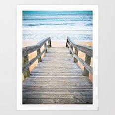 Florida Beach Walkway Art Print