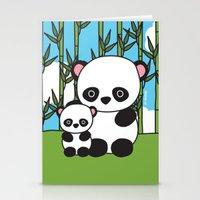 Panda Sweetness Stationery Cards