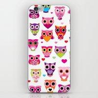 Cute Colorful Retro Styl… iPhone & iPod Skin