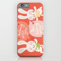 'I belong with you' Bunny Valentines Day Card iPhone 6 Slim Case