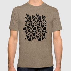 black hearts Mens Fitted Tee Tri-Coffee SMALL