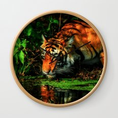 Paying Homage To The Jungle King Wall Clock
