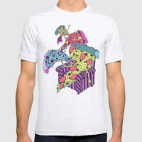 Pizza Eating Pizza - Pink Edition Mens Fitted Tee Ash Grey SMALL