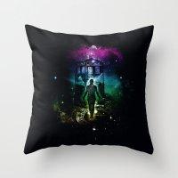 time traveller v2 Throw Pillow