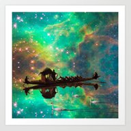 THE AFRICAN BOAT IN THE … Art Print