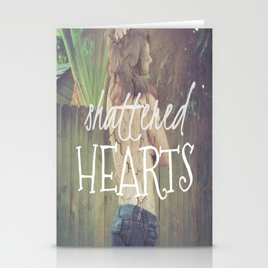 Shattered Hearts Club Stationery Card