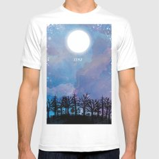 Luna Mens Fitted Tee SMALL White