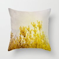 And it Was All Yellow Throw Pillow