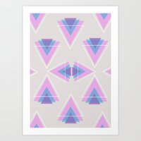 TRIANGLES IN COLOUR Art Print