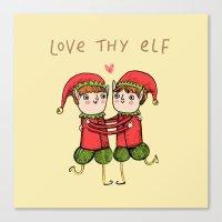 Love Thy Elf Canvas Print
