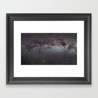 North America Nebula: the Milky way, from Cygnus to Perseus and Andromeda galaxy Framed Art Print