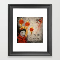Disappointed Love Framed Art Print