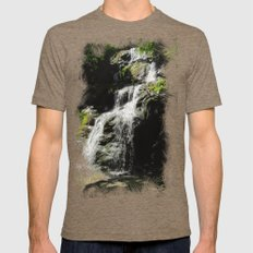 Down In The Hollow Mens Fitted Tee Tri-Coffee SMALL