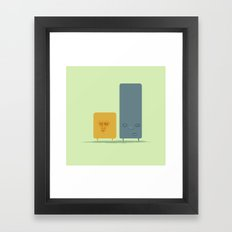 Two Guys Framed Art Print