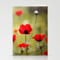 Wild Anemones Stationery Cards