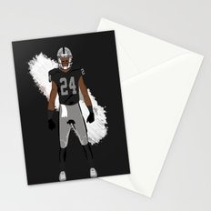 Silver and Black - Charles Woodson Stationery Cards
