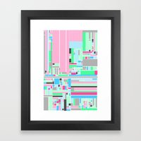 Pink, Blue & Green Framed Art Print