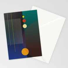Circles, Lines, Squares - Abstract Design Stationery Cards