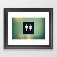 Vs. Framed Art Print