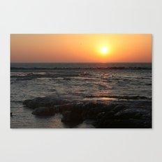 Sunrise on Lake Michigan in Winter Canvas Print