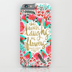 The Earth Laughs in Flowers – Pink & Gold iPhone 6 Slim Case