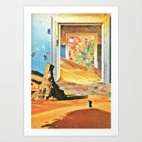 Through The Door Art Print