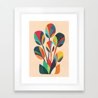 Ikebana - Geometric Flow… Framed Art Print