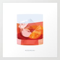 Cocktail Hour: Negroni Art Print