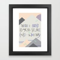 Haikuglyphics - Landscape Framed Art Print