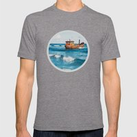 The Boat. Mens Fitted Tee Tri-Grey SMALL