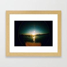 Williamsburg Bridge at Sunset Framed Art Print