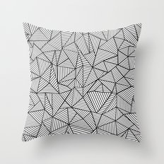 Abstraction Lines #2 Black and White Throw Pillow