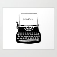 Hello World. Art Print