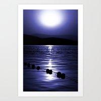 Turkish Sunrise in Blue Art Print