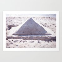 Sandy Triangle  Art Print