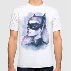 Catwoman Sketch  Mens Fitted Tee Ash Grey SMALL