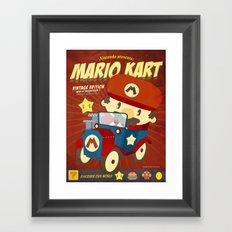 mario kart vintage Framed Art Print