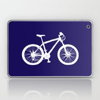 Mountain Bike Navy Blue Laptop & iPad Skin