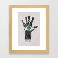 Feel It Out Framed Art Print