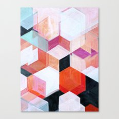 White Paint and Some Colors Canvas Print